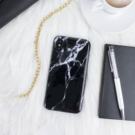LoveCases Marble iPhone X Case - Black