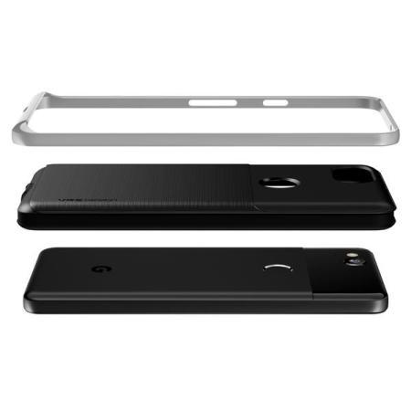 VRS Design High Pro Shield Google Pixel 2 Case - Satijn Zilver