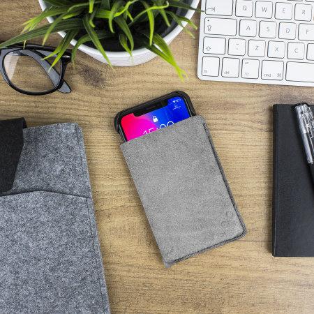 vaja grip iphone x premium leather case - black