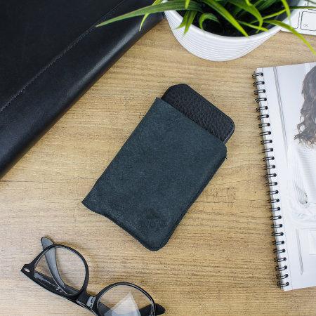 vaja agenda mg iphone x premium leather flip case - black