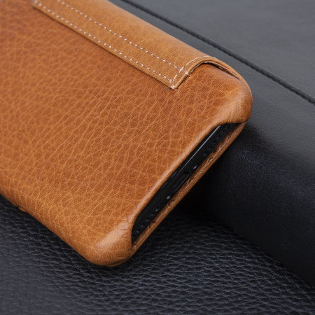 vaja agenda mg iphone x premium leather flip case - tan