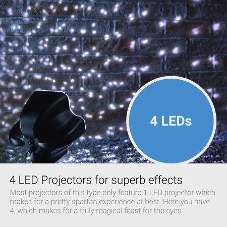 AGL Snowfall Snow Flake Christmas Exterior House LED Light Projector