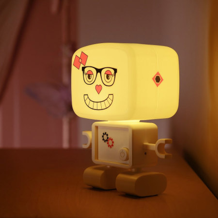 AGL RoboGlow Smart Rechargeable Sound-Activated Robot Night Light