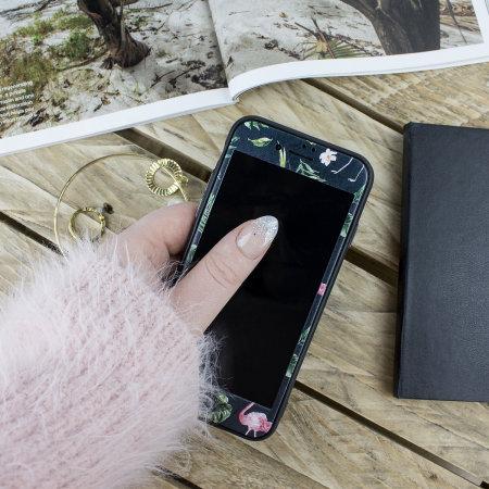 lovecases paradise lust iphone 8 case - flamingo fall