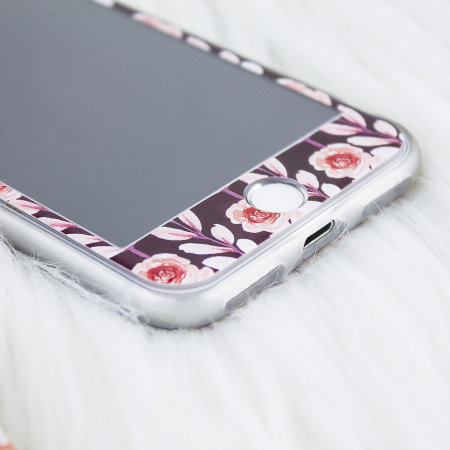 lovecases floral art iphone 8 / 7 case - maroon