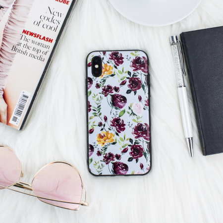 LoveCases Floral Art iPhone X Case - Blue