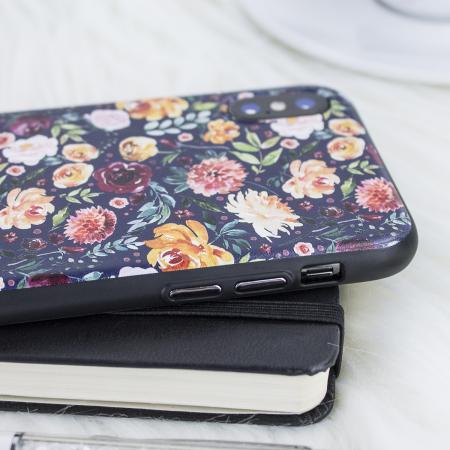 lovecases floral art iphone x case - black