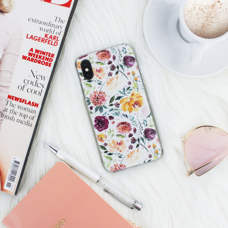 lovecases floral art iphone x case - white