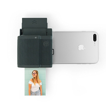 instant photo printer for iphone prynt pocket instant photo printer for iphone graphite 17325