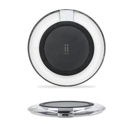 Chargeur sans fil iPhone X / 8 Plus / 8 Aiino – Noir / Transparent