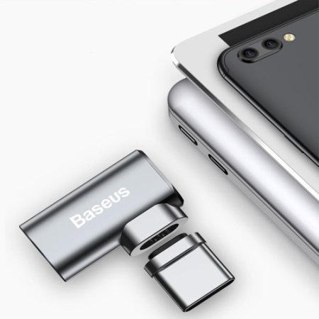 Adaptateur USB-C Baseus Mini Magnétiques Angles Fast Charge - Gris