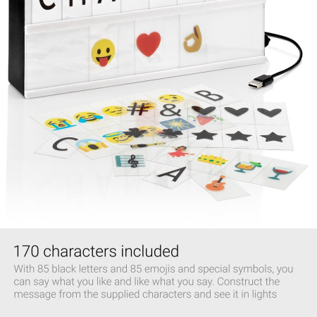 Caja de Luz AGL Colour Changing cinemática con Emoji