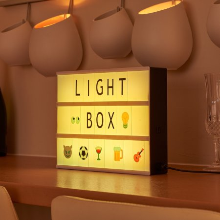 AGL Colour Changing Cinematic LED Light Box With Emoji's