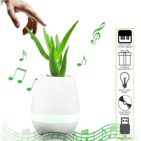 Mayhem Aurora Rockin Beethoven Plant Pot Piano Speaker - White