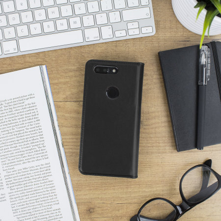 Olixar Genuine Leather OnePlus 5T Executive Wallet Case - Black