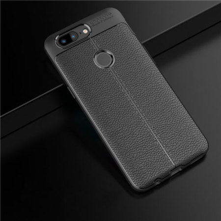 brand new be01f fefb0 Olixar Attache OnePlus 5T Leather-Style Protective Case - Black