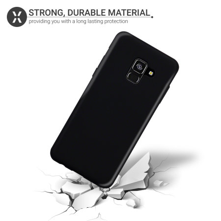 Olixar FlexiShield Samsung Galaxy A8 2018 Gel Case - Solid Black
