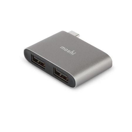 Moshi USB-C To Dual USB 3.1 Adapter - Grey