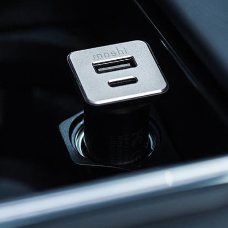 Moshi USB & USB-C Car Charger - Black