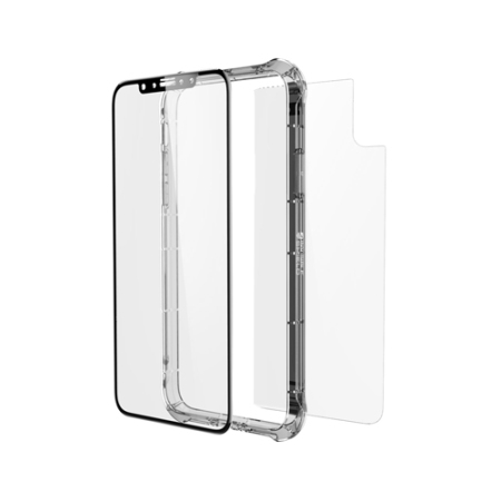 hot sale online d5f16 81ee4 ZAGG InvisibleShield iPhone X Glass+ Contour 360 Full Case - Clear