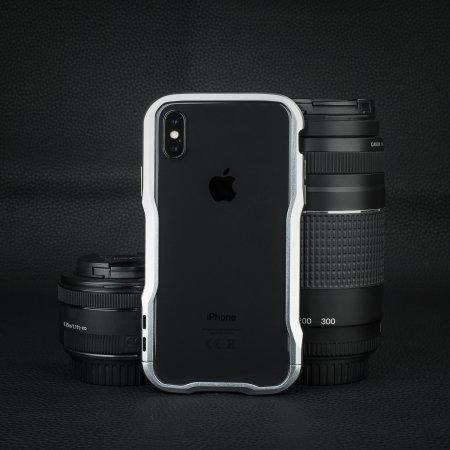promo code 69414 5d91f Luphie Incisive iPhone X Aluminium Metal Bumper Case - Silver