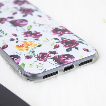 lovecases floral art iphone x case - blue / white
