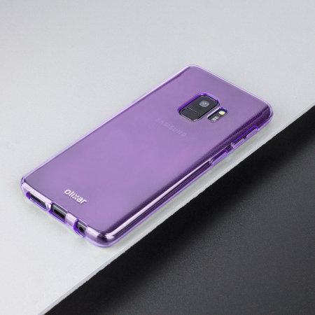 Olixar FlexiShield Samsung Galaxy S9 Gel Case - Lilac Purple
