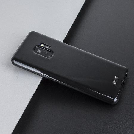 separation shoes e3613 9e25a Olixar FlexiShield Samsung Galaxy S9 Gel Case - Solid Black