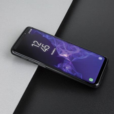 Olixar FlexiShield Samsung Galaxy S9 Gel Case - Solid Black