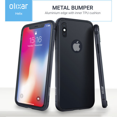 iPhone X Case - Olixar Helix Sleek 360 Protection - Space Grey