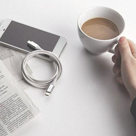 Belkin DuraTek USB-C to USB-C Kevlar Reinforced 1.2m Cable - Silver