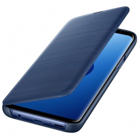 Funda Oficial Samsung Galaxy S9 LED Flip Wallet Cover - Azul