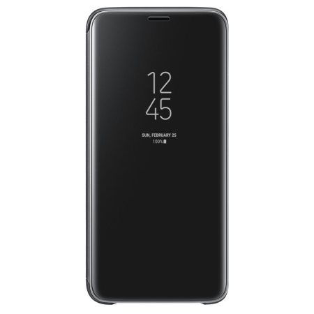 Official Samsung Galaxy S9 Clear View Stand Cover Skal - Svart