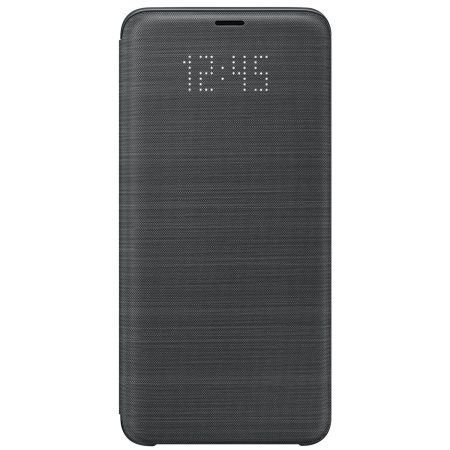 Funda Oficial Samsung Galaxy S9 Plus LED Flip Wallet Cover - Negra