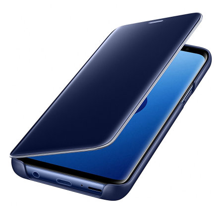 buy online 7180b 9fea1 Official Samsung Galaxy S9 Clear View Stand Cover Case - Blue
