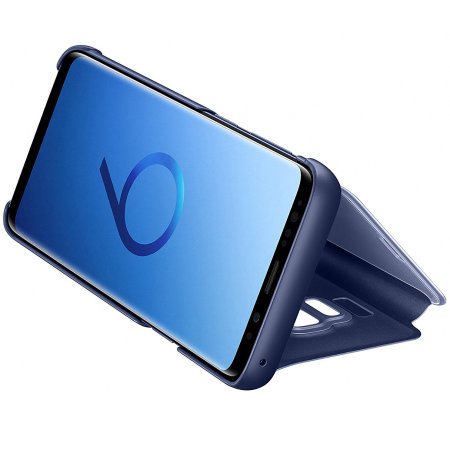 Funda Oficial Samsung Galaxy S9 Clear View con soporte - Azul