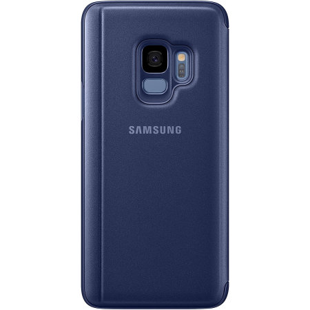 Official Samsung Galaxy S9 Clear View Stand Cover Case - Blue