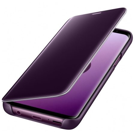 on sale 5ab0d d2494 Official Samsung Galaxy S9 Clear View Stand Cover Case - Purple
