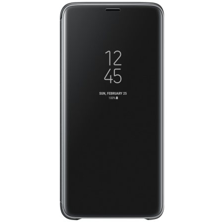 Official Samsung Galaxy S9 Plus Clear View Stand Cover Case - Zwart