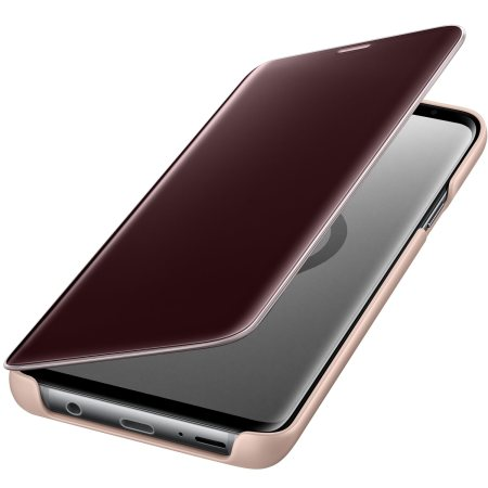Clear View Stand Cover Officielle Samsung Galaxy S9 Plus – Or