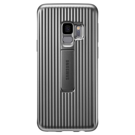 Official Samsung Galaxy S9 Protective Stand Cover Case - Silver