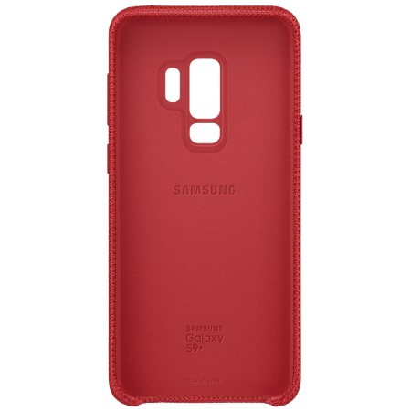 Offizielle Samsung Galaxy S9 Plus Hyperknit Cover Hülle - Rot