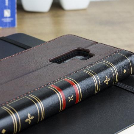 Olixar X-Tome Leder-Stil Samsung Galaxy S9 Plus Hülle – Braun