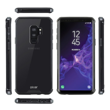 Olixar ExoShield Tough Snap-on Samsung Galaxy S9 Plus Case - Zwart