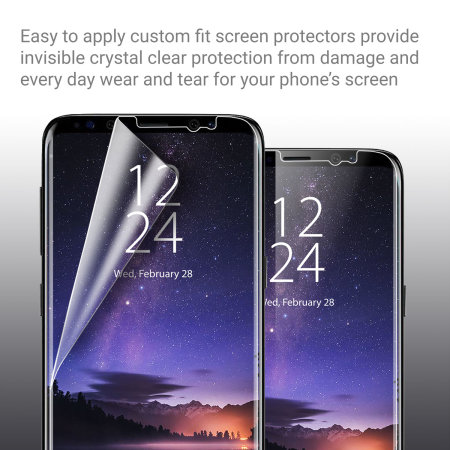 Olixar Samsung Galaxy S9 Plus Screen Protector 2-in-1 Pack