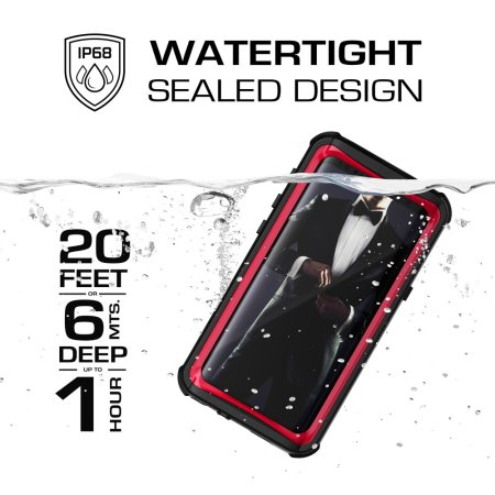 Ghostek Nautical Series Samsung Galaxy S9 Waterproof Case - Black /Red
