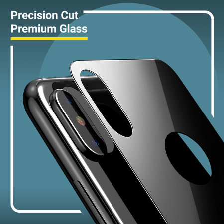 Olixar GlassTex iPhone X Screen and Back Glass Protectors with Guide