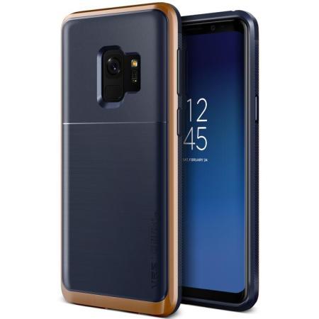 VRS Design High Pro Shield Samsung Galaxy S9 Case - Indigo Blush Gold