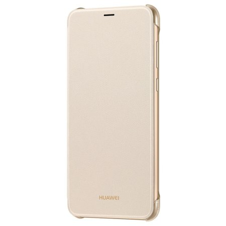 Official Huawei P Smart 2018 Flip Case - Gold