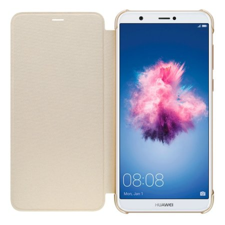 sale retailer 75fd3 d256a Official Huawei P Smart 2018 Flip Case - Gold